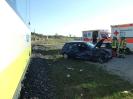 Sonntag, 25. März 2012: Verkehrsunfall, Zug kollidierte mit Pkw
